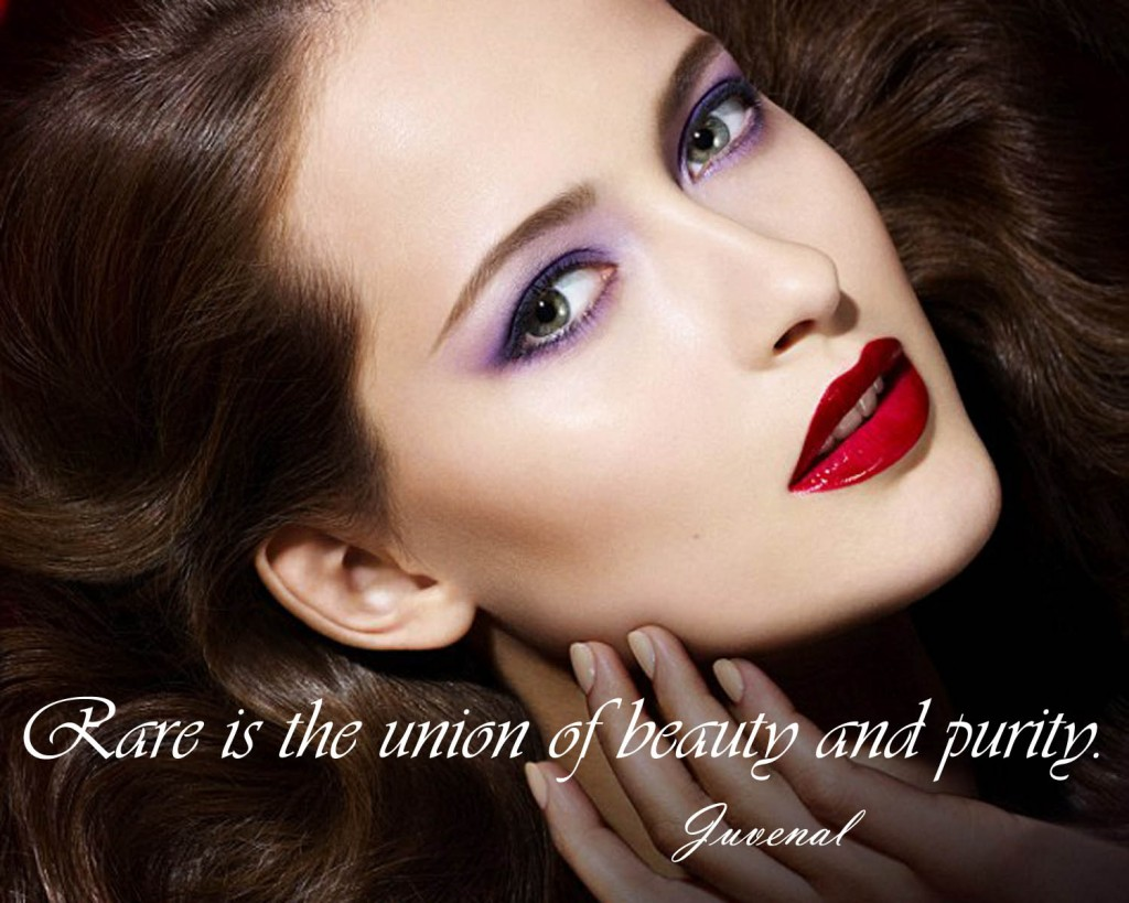 Rare is the union of beauty and purity.