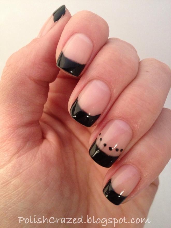 Black French nail tips