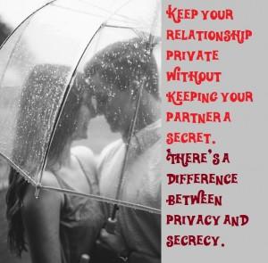 is keeping a relationship secret badass