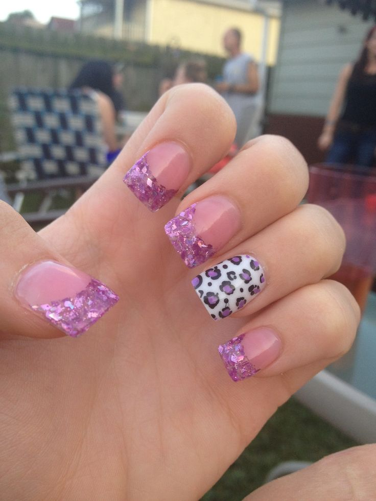 Purple cheetah nails solutioingenieria Choice Image
