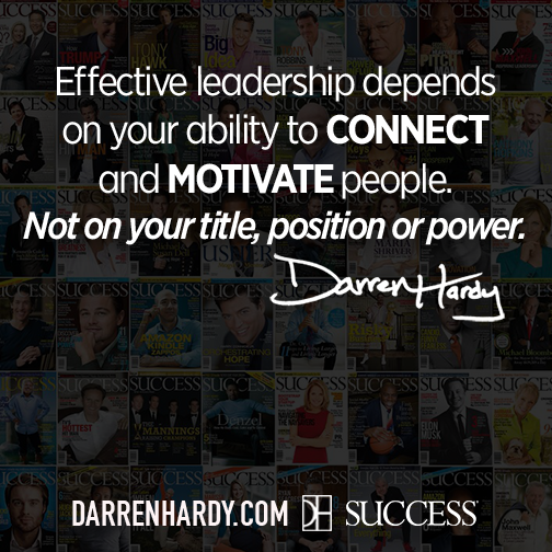 Effective leadership depends on your ability to connect and motivate people. Not on your title, position or power.