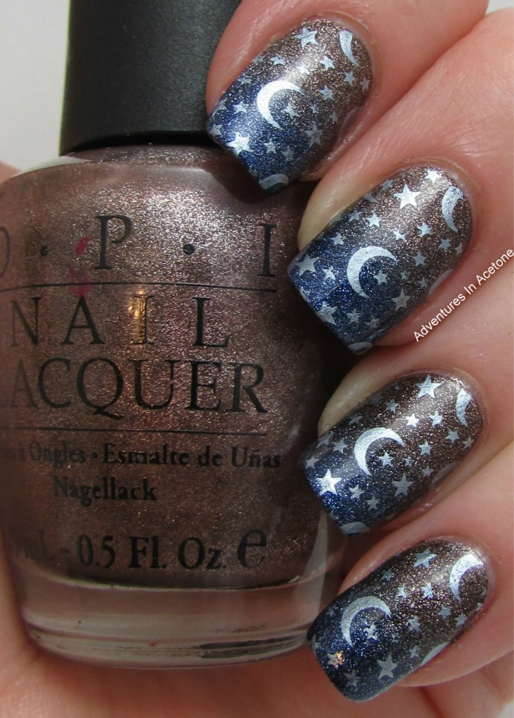 Celestial stars nail art