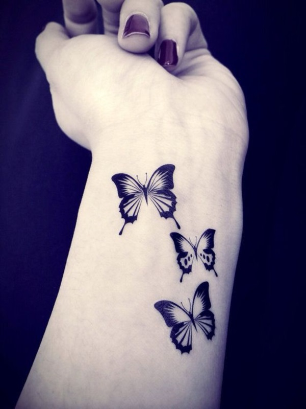 cool butterfly wrist tatoo for women. Black Bedroom Furniture Sets. Home Design Ideas