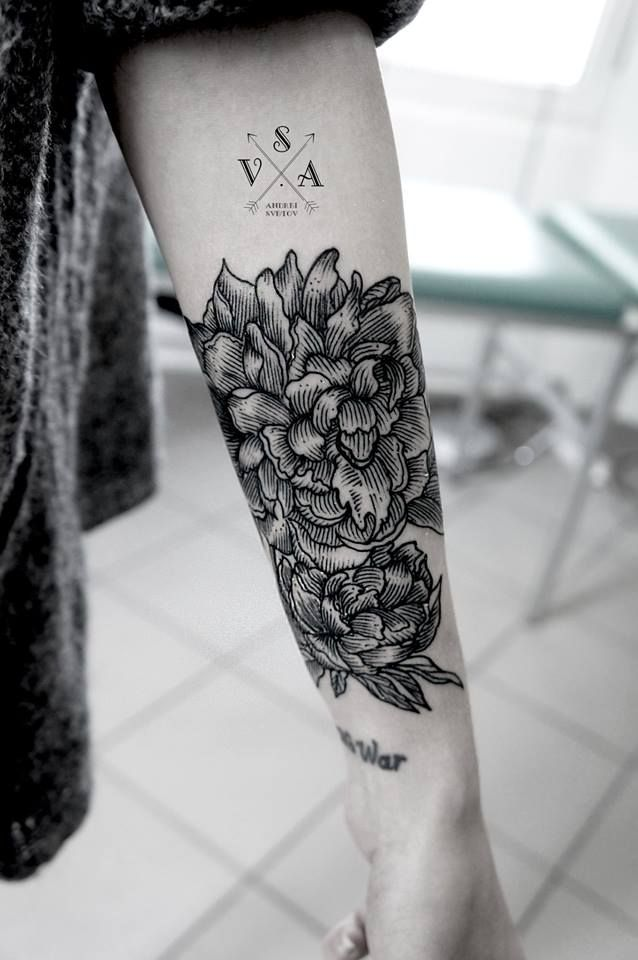 flower forearm tattoo for women. Black Bedroom Furniture Sets. Home Design Ideas