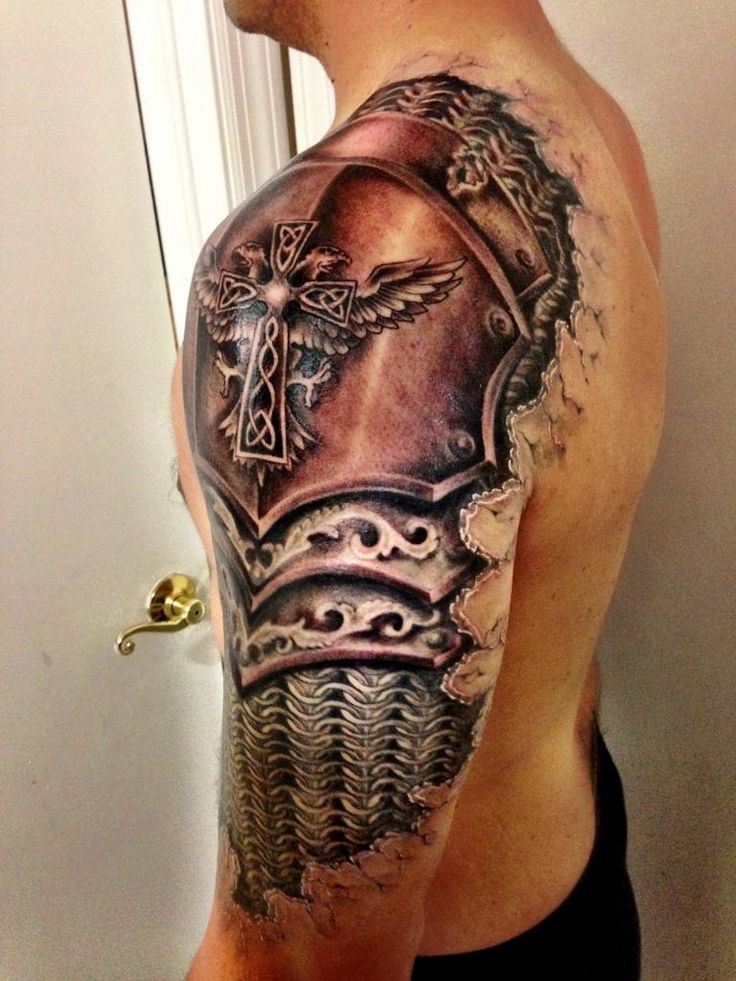 23dcacfa2 Gladiator armor half sleeve shoulder tattoo