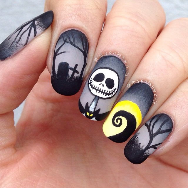 - Dark Nightmare Nail Art Before Christmas Halloween