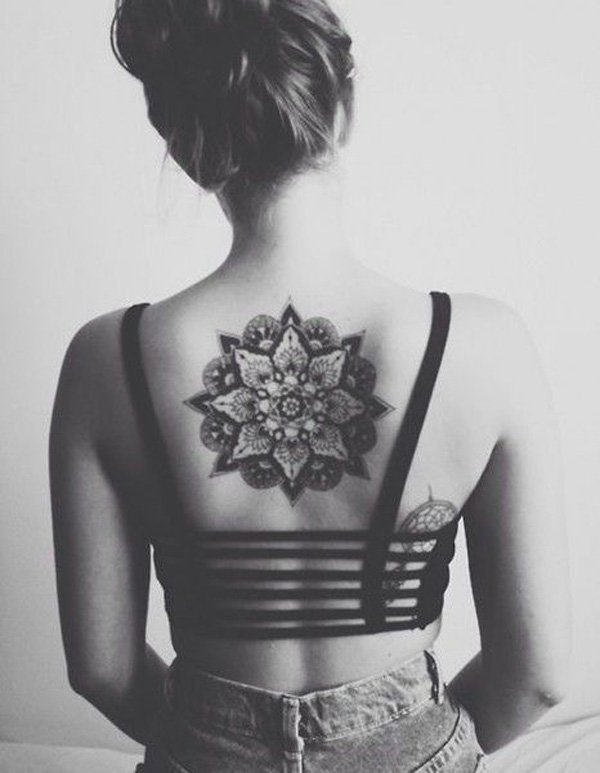 Dream-Mandala-Back-Tattoo-for-Girl