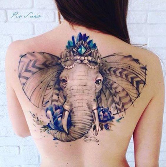 elephant back tattoo
