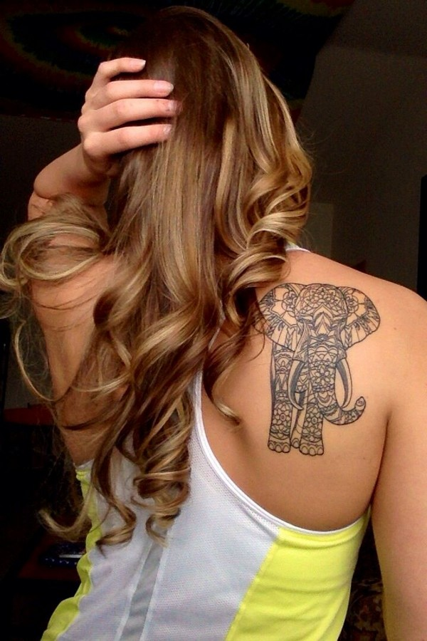 elephant-tattoo for women