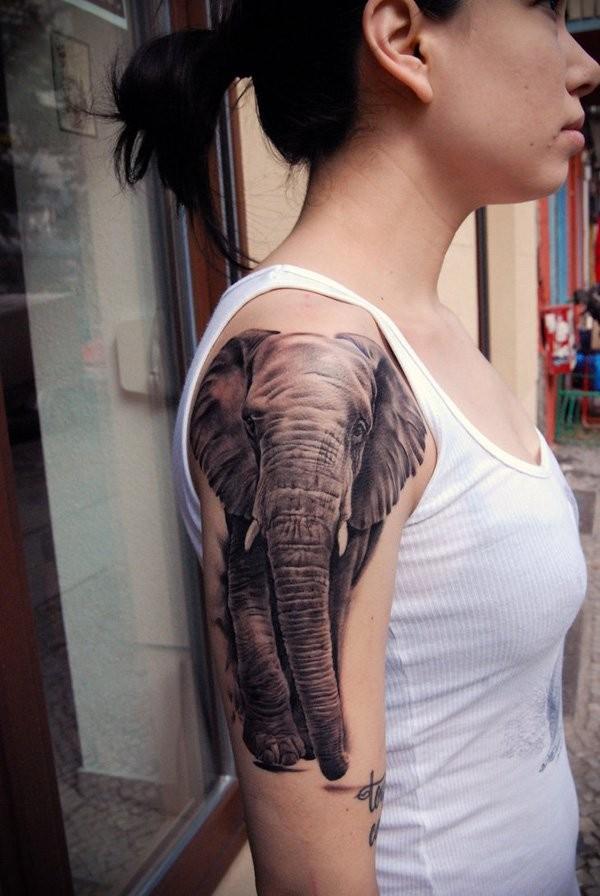 100 Amazing Elephant tattoos - photo#33