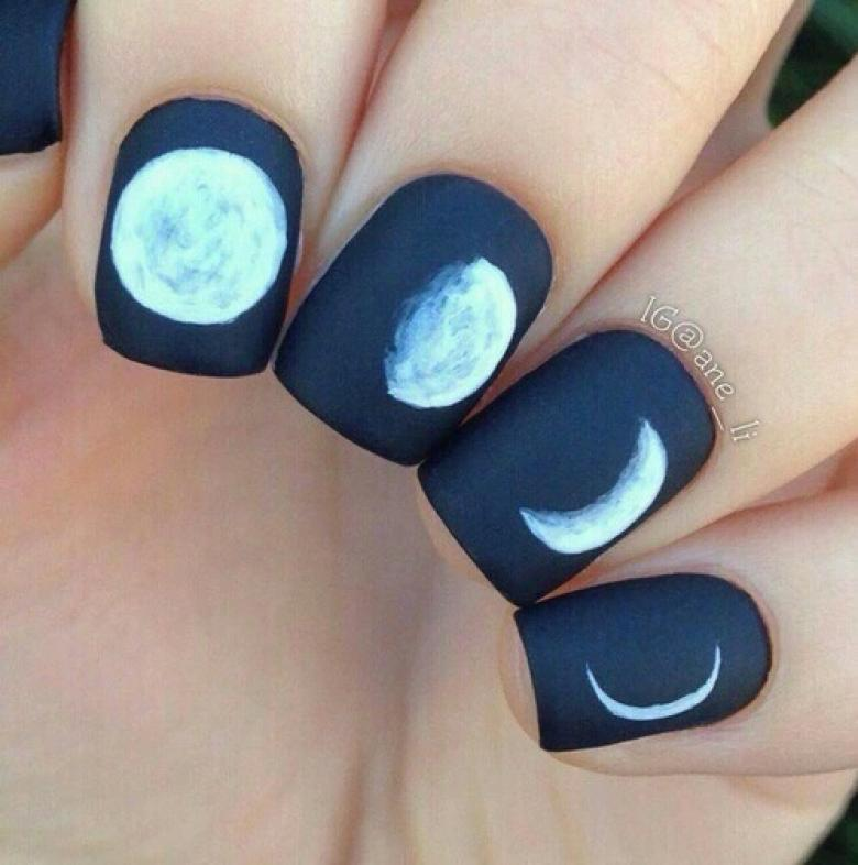 Lunar mansion Nail Art Design