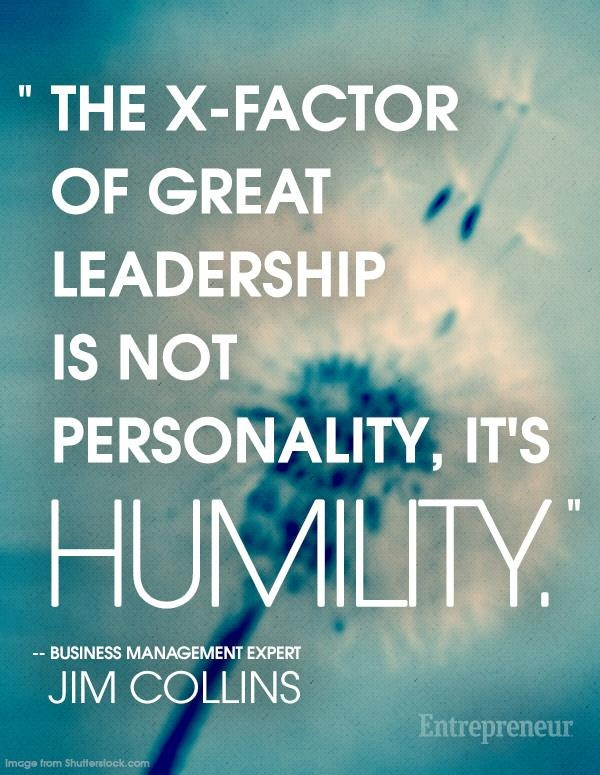 The X-factor of great leadership is not personality, it's humility