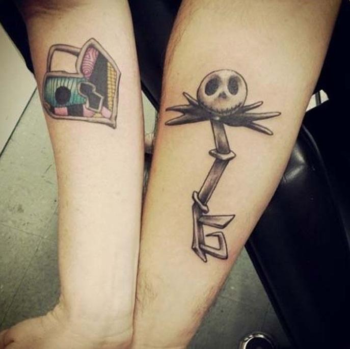 Nightmare Before Christmas Diesney style tattoo