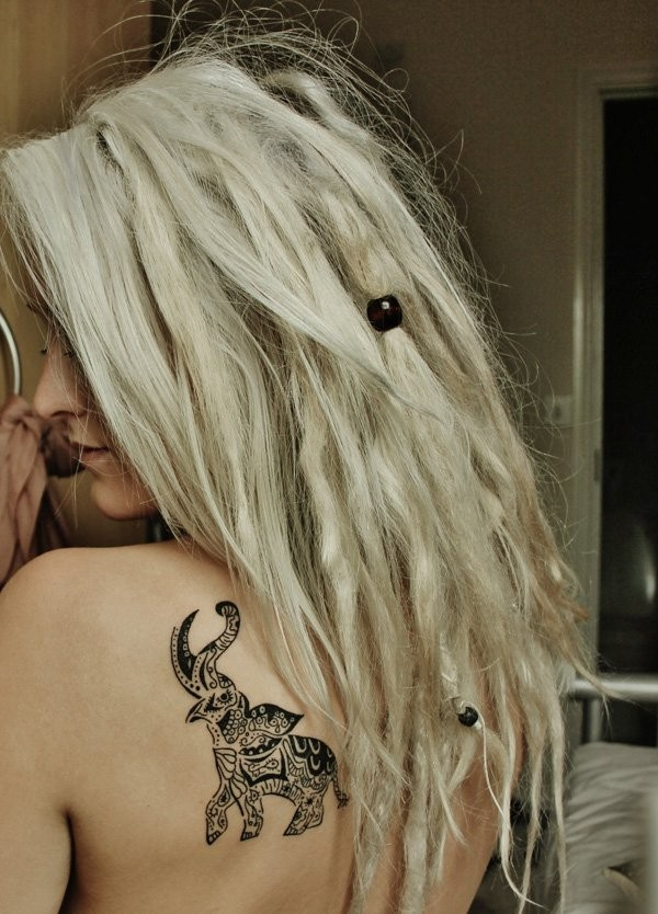 amazing small elephant tattoo for women