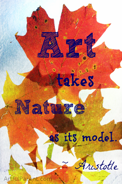 Art takes nature as its model